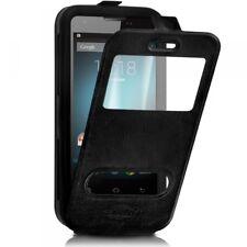 Etui Coque Silicone S-View Couleur noir Universel XL pour Huawei Honor X5