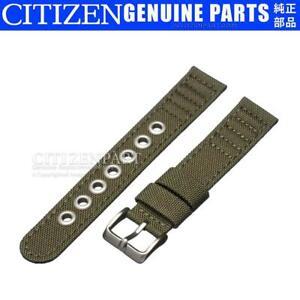 Genuine Citizen 18mm Green Canvas Strap for BM8180-03E E101-S006597 Watch Band