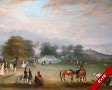 ARCHERY CONTEST BRADGATE PARK LEICESTERSHIRE ENGLAND PAINTING ART CANVAS PRINT