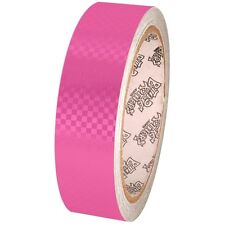 Tape Planet Fluorescent Pink Carbon Fiber 1 inch x 10  yards Metalized PVC Tape