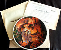 Norman Rockwell ~ Somebody's Up there ~ Limited Christmas Collectors Plate 1979