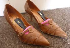 BRONX Ladies Brandy Style heeled shoes Size EU38 / UK5 Leather with box