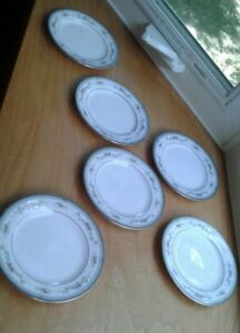 6 Noritake Brookvale Bread &  Butter Plates 4098 New With Tags Fruit & Floral