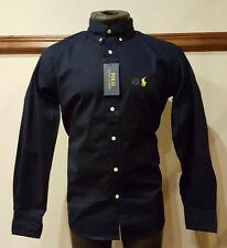 Mens Ralph Lauren Navy Blue Slim Fit Shirt