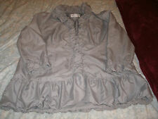 Roamans ladies light gray spring summer dressy jacket size 18 W