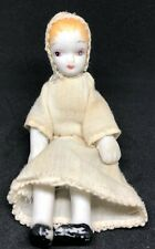 """Vintage Porclain/Bisque 5"""" Baby Doll Molded Hair 5 Piece"""