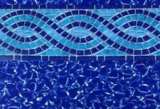 "GLI 18' x 33' Oval Beaded Swimming Pool Liner | Willow Creek | 52"" Height"