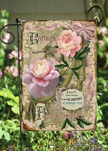 Cottage Pink Roses Garden Flag  Top Quality * Double Sided * By Flags Galore