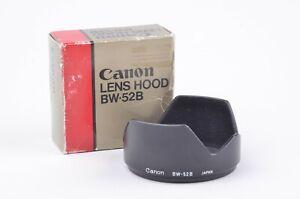 MINT- BOXED CANON BW-52B GENUINE LENS HOOD FOR FD 28mm F2 / F2.8 LENSES