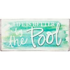 Life Is Better By The Pool Metal Plaque Sign Swimming Wall Home Decor Summer