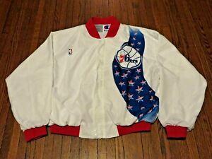 VTG 90's Champion NBA Philadelphia 76ers Shooting Warm Up Jacket sz XL