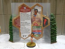 Heroscape Custom Wonder Woman Double Sided Card & Figure w/ Sleeve DC