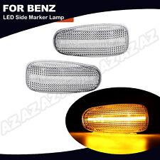 2X LED Fender Side Marker Light Amber For Mercedes CLK SLK E C Class Sprinter