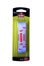 "Kiwi White Shoe Laces 45"" Flat Breast Cancer Awareness Pink Ribbon"