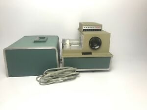 Vintage Argus 500 Slide Projector Model 58 With Lid And Power Cable Working.