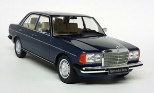 KK 1/18 Scale - Mercedes 280E W123 1977 Dark Blue - Diecast Model Car