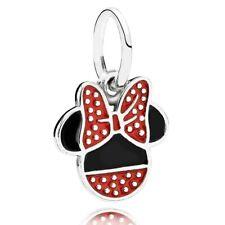 Genuine Pandora Charm Silver DISNEY Minnie Mouse Icon Symbol Hanging 791460ENMX