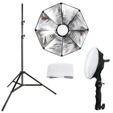Lusana Studio Softbox Reflector Kit w/ Stand, Diffuser Cover 144 LED Photo Light