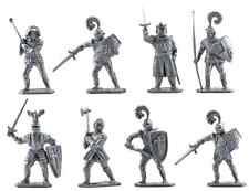 Lone Star Recasts - 8 King Arthur Knights - unpainted 60mm plastic - RARE