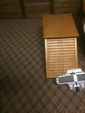 End Table/ Conversation Piece/shoe Salesman Bench With Measuring Device. One Of