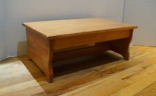 """9"""" extra tall 14"""" x 24"""" Handcrafted Heavy Duty Wooden Bed Step Stool, Pick stain"""