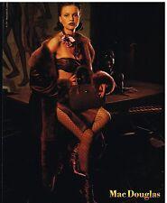Publicité Advertising 2001 Lingerie sous vetement Cuir Mac Douglas