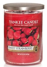Yankee Candle SWEET STRAWBERRY Large 2 Wick Tumbler 22oz Candle HARD TO FIND