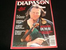 DIAPASON FRENCH MAGAZINE<> OCTOBER 1988  #342 <> AUGUSTIN DUMAY
