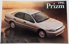 GEO SILVER PRIZM SHOWROOM NOS 95 PROMO 1995 CHEVY DEALER DEALERSHIP POSTCARD
