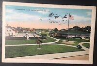 Vintage Postcard Community Club Baton Rouge Louisiana Postmark 1938