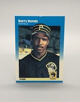 ❤️1986 Fleer #604 Barry Bonds RC Rookie Pirates Giants - Benefits Charity❤️