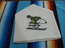 Vintage Retro Peanuts Snoopy Skiing Knit Ski Hat, Orlon Acrylic WPL7503 1958