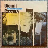 Gianni Cazzola - Three generations VInile Vinyl LP Jazz Bebop (Mint)