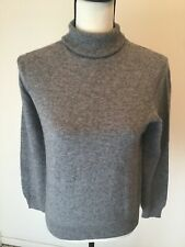 Bloomingdale's Women's Marled Gray LS 100% Cashmere Turtleneck Sweater Sz S