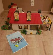 Playmobil Einfamilienhaus 3965 + Erweiterung 7338 + Swimmingpool 3205