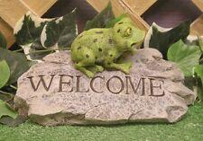 Welcome Tree Bull Frog Toad On Flagstone Latex Fiberglass Mold Concrete Plaster