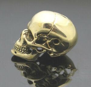 Skull Beads Brass Paracord Knife Lanyard Bead Gold Handmade Accessories