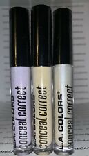 3 L.A. Colors Conceal Correct Concealer Corrector HIGHLIGHTER YELLOW LAVENDR Lot