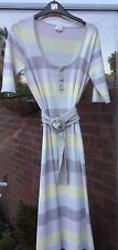 NEARLY NEW LADIES WHISTLES STRIPED BELTED COTTON DRESS SIZE 2