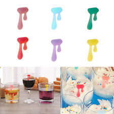 12pcs//Set Silicone Wine Glass Drink Markers Label party Cup Glass Marker IiJ lI