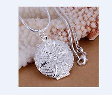 Silberkette mit Anhänger Blume  Halskette Damen 925 Silber Kette Schmuck