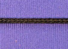 "Vintage Shiny Rayon Flat Cord Flat Braid 1/16"" (2 mm) Black 10 yds #BG107"