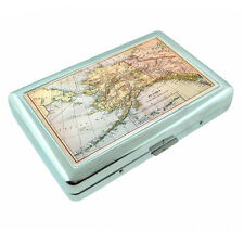 Scenic Alaska D12 Silver Metal Cigarette Case RFID Protection Wallet State Map
