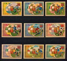 s5144) GUINEA ECUATORIAL 1974 MNH** WC Football -Coppa Mondo Calcio 9v IMPERF