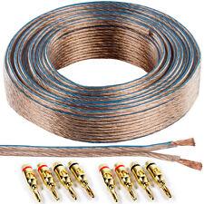 25m SPEAKER CABLE & 8x Oro Banana Spine - 1,5 mm wire Binding Post AMP HIFI RCA