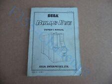 ORIGINAL EX ARCADE MANUAL - SEGA BULLS EYE SHOOTING - FREE P&P JAMMA
