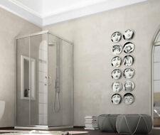 Box doccia angolare alluminio cromato cabina cristallo 6mm angolare o curvo