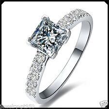 1.00CT Princess D Cut Diamond Platinum PT950 Engagement Wedding Ring White Gold