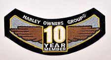 HOG 10 Year Member Patch Emblem - Harley Davidson Owners Group Rocker HD MC