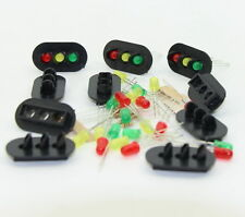JTD24 10 sets Target Faces With LEDs for Railway signal O Scale 3 Aspects
